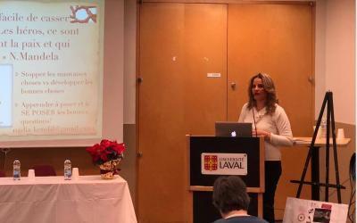 Conférence à l'université Laval (Québec),