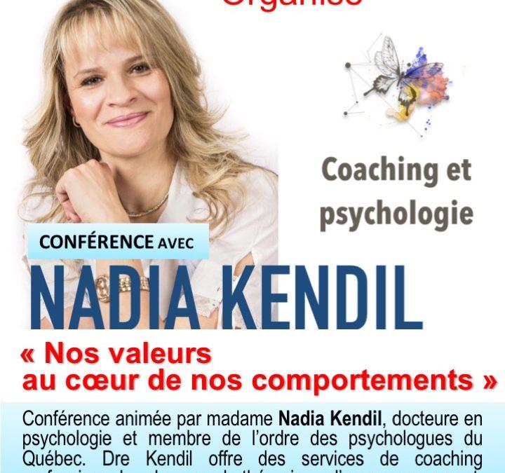Conférence : Nos valeur au cœur de nos comportements
